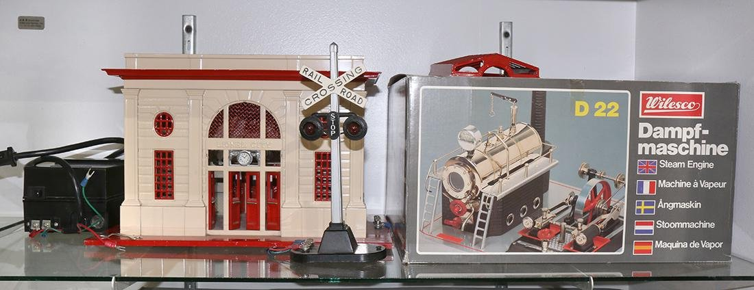 Assorted Model train accessories