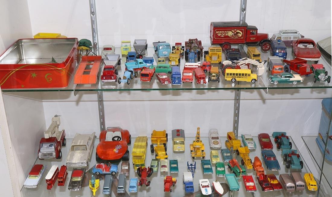 Assorted model cars, makers include Matchbox, Corgi,