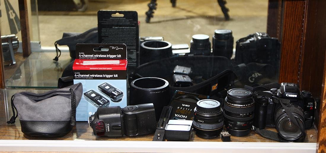 Vintage camera and lens group