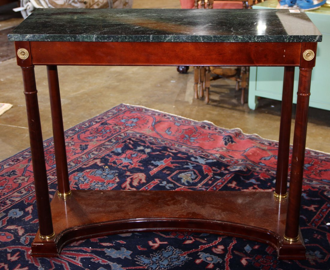 Pair of French Empire style console tables