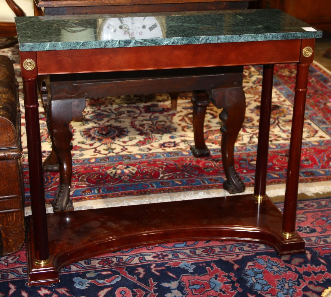 Pair of French Empire style console tables - 2