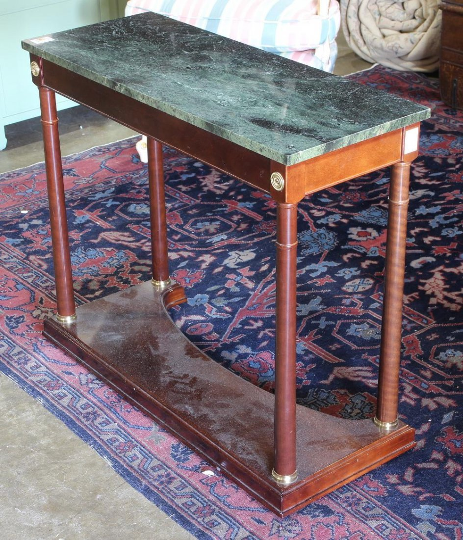 Pair of French Empire style console tables - 3
