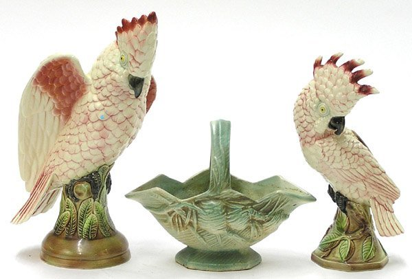 17: Will-George Pasadena Pottery parrots
