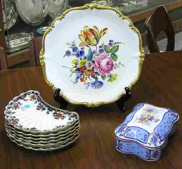 84: Limoges hand decorated porcelain box