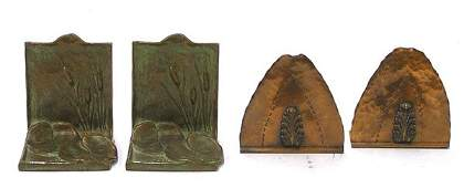 433 Bronze Copper Art Nouveau Deco bookend