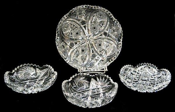 2018: Cut glass dishes hobstars sawtooth