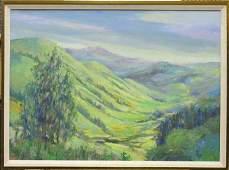2142: painting Louise Noack Gray Californian