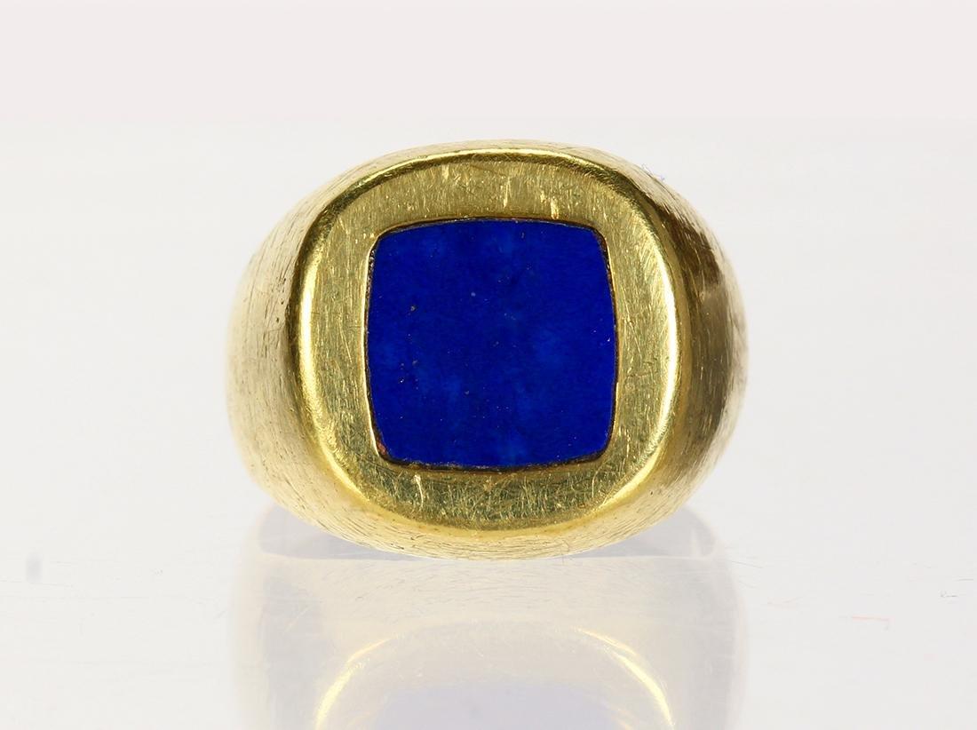 Lapis lazuli and 14k yellow gold ring