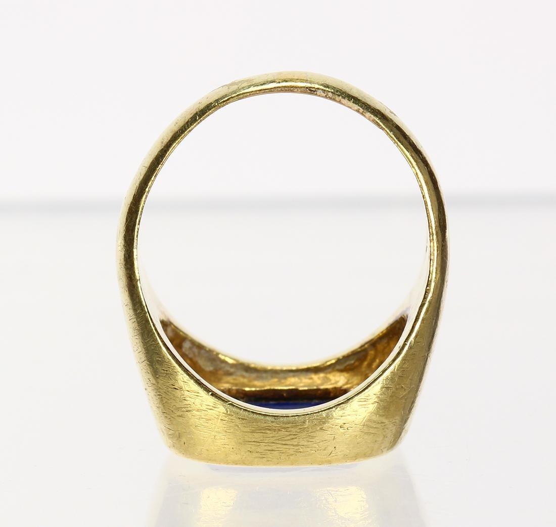 Lapis lazuli and 14k yellow gold ring - 4