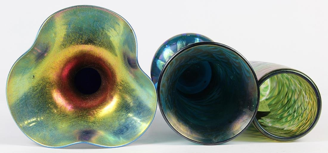 Lundberg Studios art glass group, consisting of a - 3