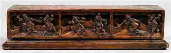 Chinese Carved Rectangular Wood Box