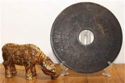 Chinese Hardstone Disc and Ox
