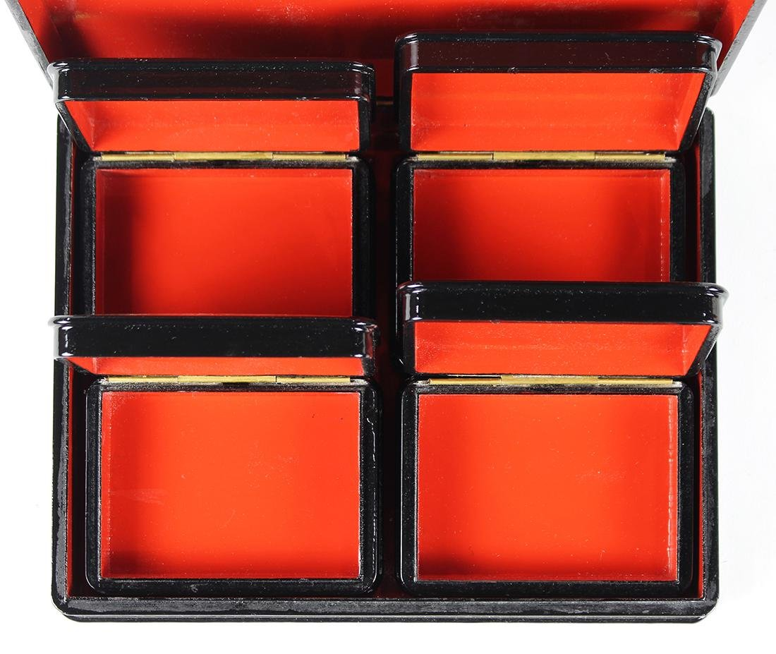 Russian Fedoskino lacquer box set - 3
