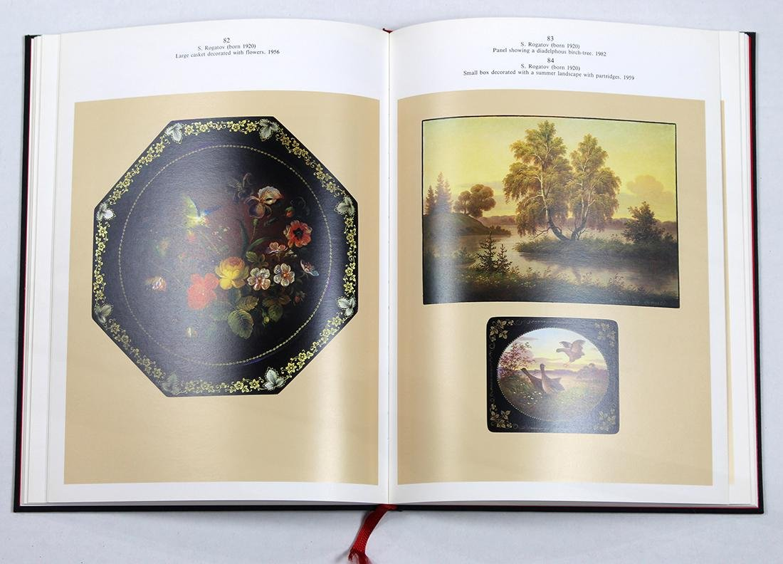 Russian Fedoskino lacquer box group - 7