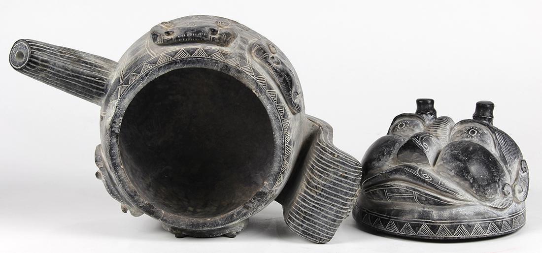 Tribal style stone teapot - 3
