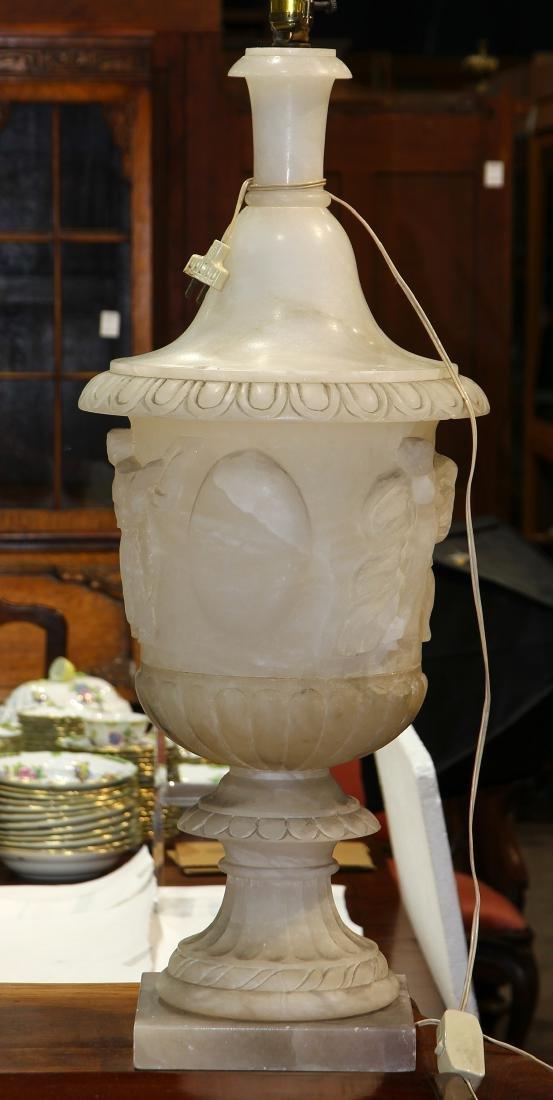 Large alabaster table lamp - 2