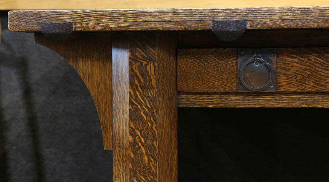Arts & Crafts library table - 3