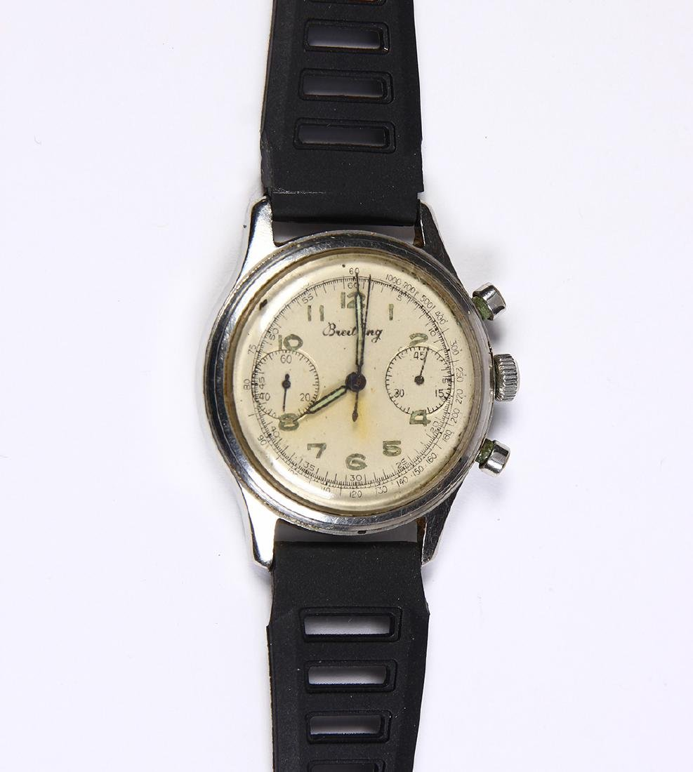 Chronograph stainless steel wristwatch