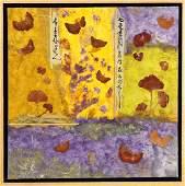 Collage on Canvas, Asian Autumn