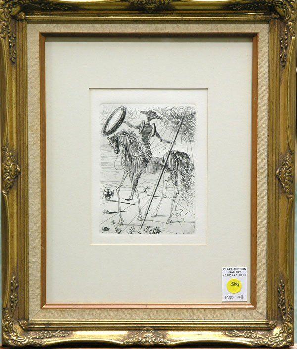 4392: etching Don Quixote Salvador Dali