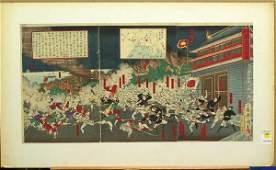 4550 SinoJapanese War Print Triptych