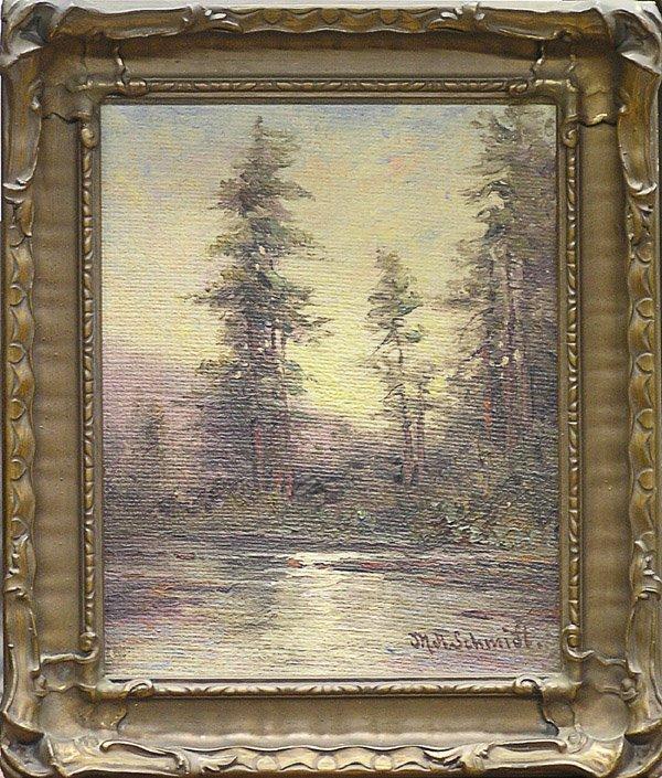6001: Painting M.A. Schmidt landscape