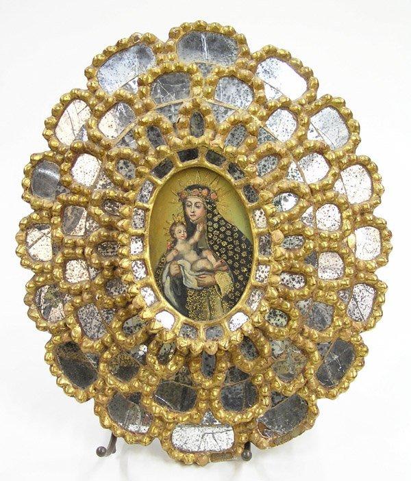 6022: Cusquenian school painting Mary Jesus