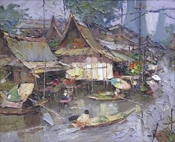 6581: Painting Sujarit Hirankul Thai Asian