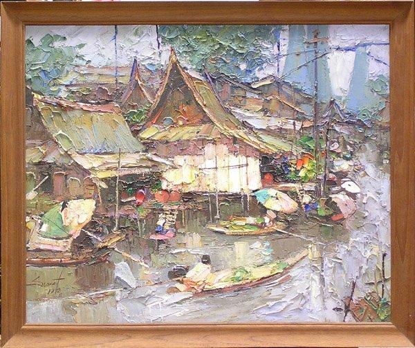 6581: Painting Sujarit Hirankul Thai Asian - 2