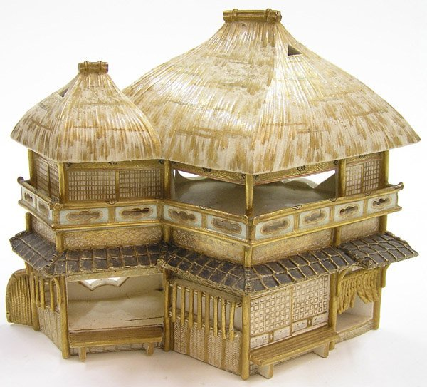 6631: Japanese Unusual Satsuma-Style Censer