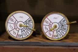 Pair of Brelco New York engine room telegraphs circa