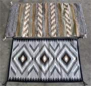 lot of 2 Navajo rug group largest 58 x 33