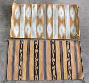 lot of 2 Navajo rug group largest 36 x 21