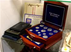 (lot of 30) Commemorative coin and stamp collection,