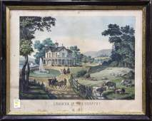 Print, Summer in the Country, The Farmer's Home