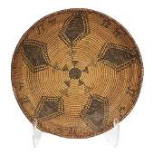 Southwest Native American Apache coiled basket, with