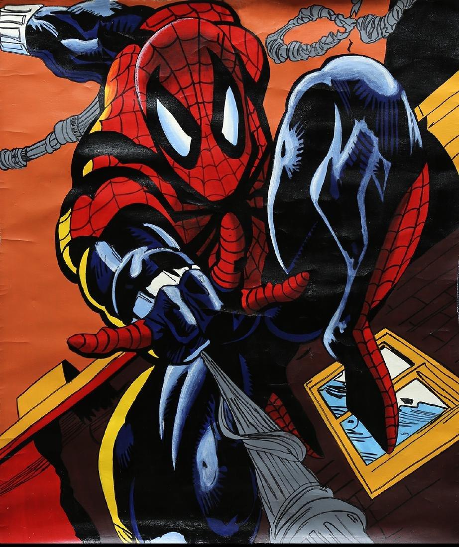 Painting, Steve Kaufman, Spiderman