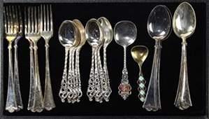 Assorted Norwegian 830 silver flatware group