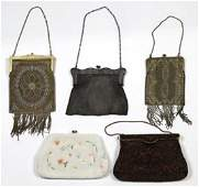 Ladies evening handbag group, consisting of vintage