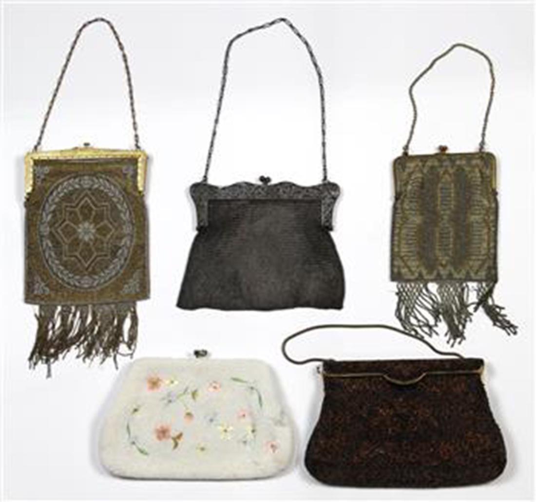 Ladies evening handbag group, consisting of vintage