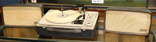 """(lot of 3) KLH turntable, Model Eleven FM, 7""""h x 16"""
