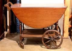 Georgian style mahogany tea cart