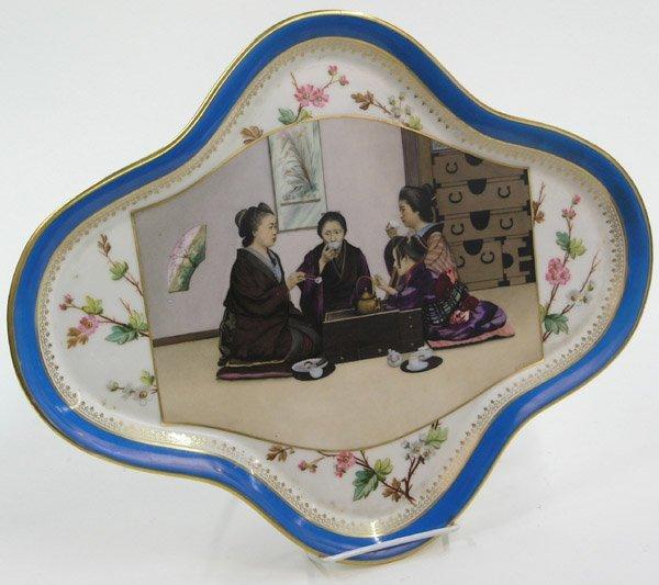 13: Japonism porcelain dresser tray