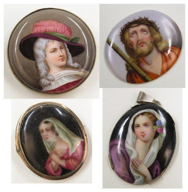 23: Portrait miniatures on porcelain