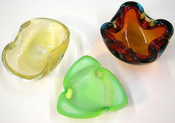 25: Murano art glass bowls