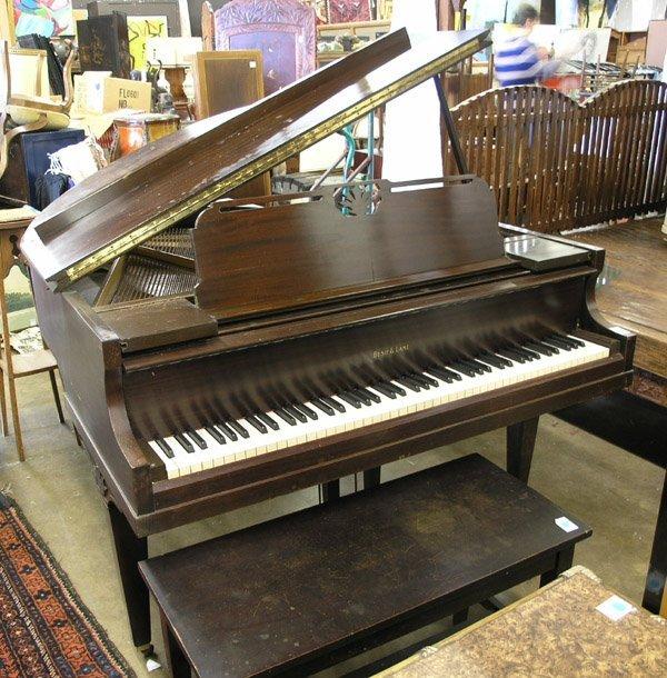 209: Bush, Lane mahogany baby grand piano - 2