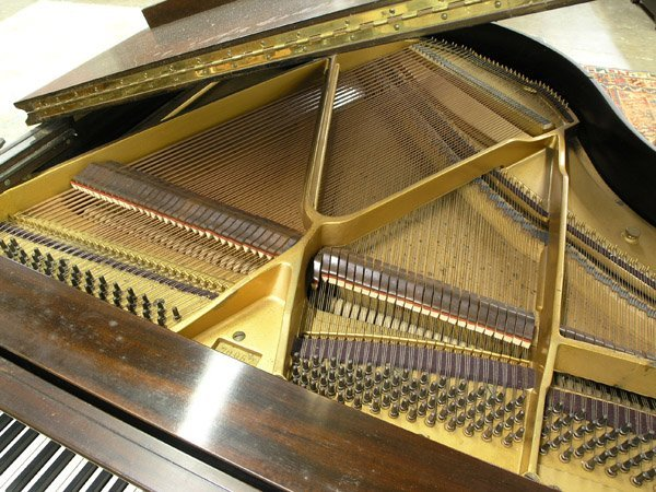 209: Bush, Lane mahogany baby grand piano - 7