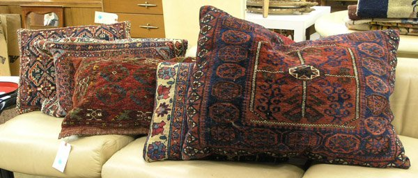 212: Oriental bag-face rug carpet pillows