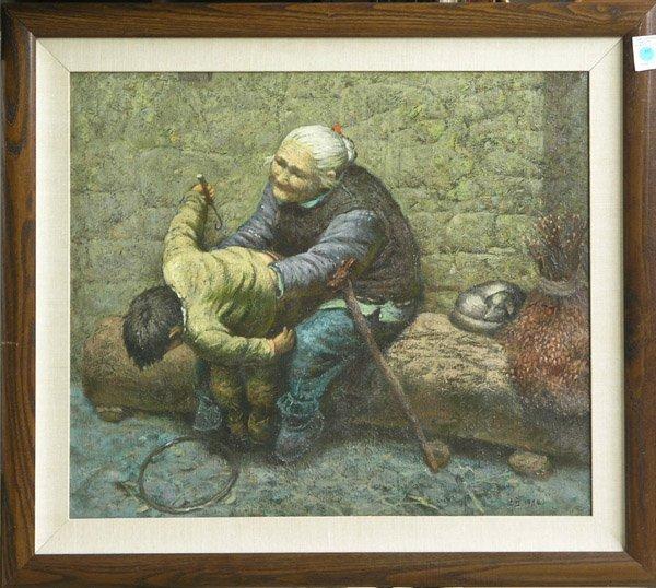 347: Painting, Grandmother, Luo Zhong Li