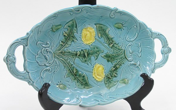 2017: German Majolica glazed platter